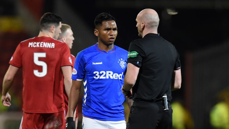 Rangers striker Alfredo Morelos has been given four red cards this season