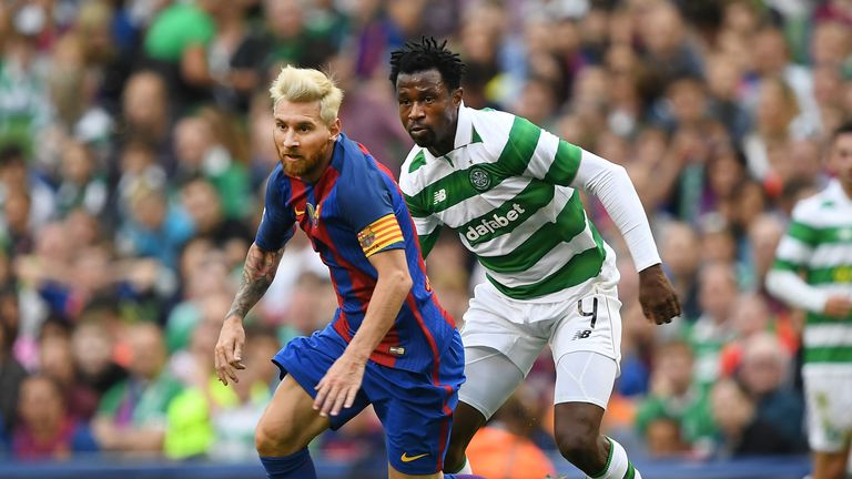 Ambrose played against Lionel Messi and Barcelona in the Champions League for Celtic