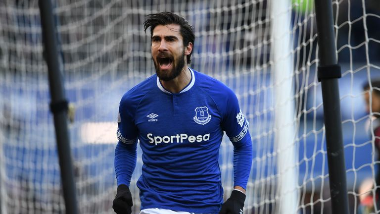 Andre Gomes has made 22 Premier League appearances for Everton this season