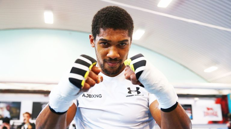 Anthony Joshua prepares for his American debut against Jarrell Miller on June 1, live in the Sky Sports Box Office