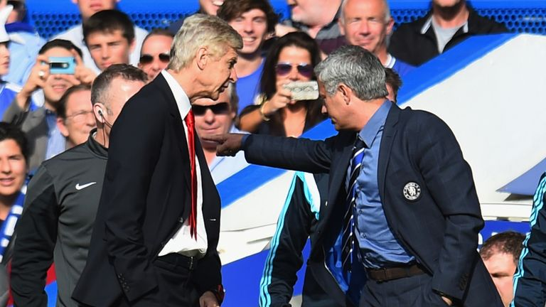 Arsene Wenger and Jose Mourinho had a heated rivalry when they managed against each other
