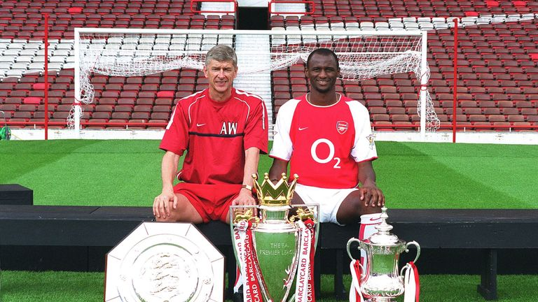 Patrick Vieira was reported to be under consideration to succeed Arsene Wenger as Arsenal boss last year