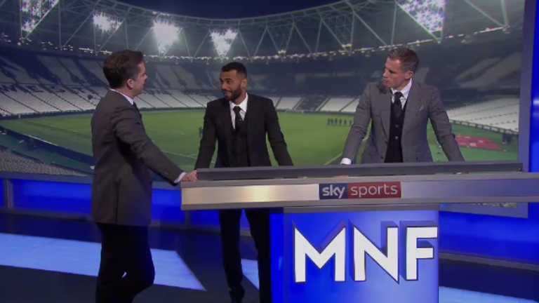 Ashley Cole was the guest on Monday Night Football