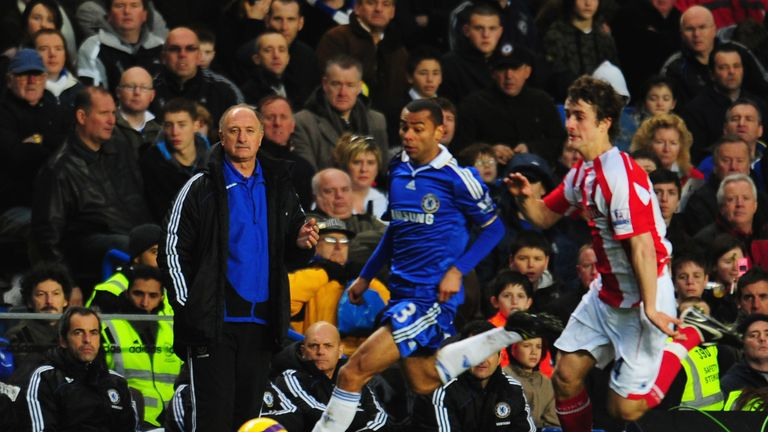 during the Barclays Premier League match between Chelsea and Stoke City at Stamford Bridge on January 17, 2009 in London, England.
