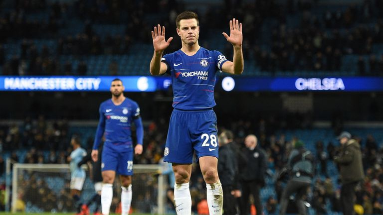 Cesar Azpiliceuta apologises to the Chelsea fans after the 6-0 thrashing to Manchester City
