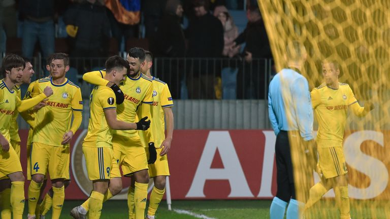 Arsenal trail BATE Borisov 1-0 after last week's first leg in Belarus