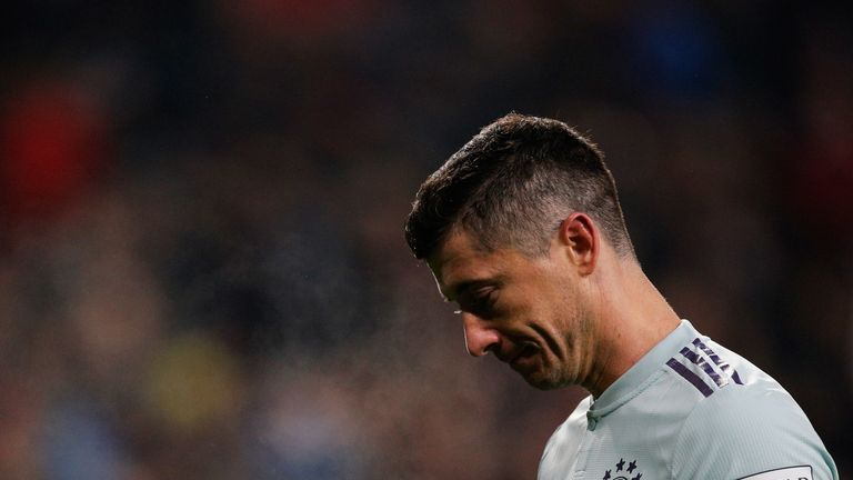Robert Lewandowski was unable to score as Bayern Munich lost