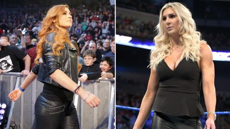 Becky Lynch re-injured her knee while attempting to attack Charlotte Flair at a WWE live event