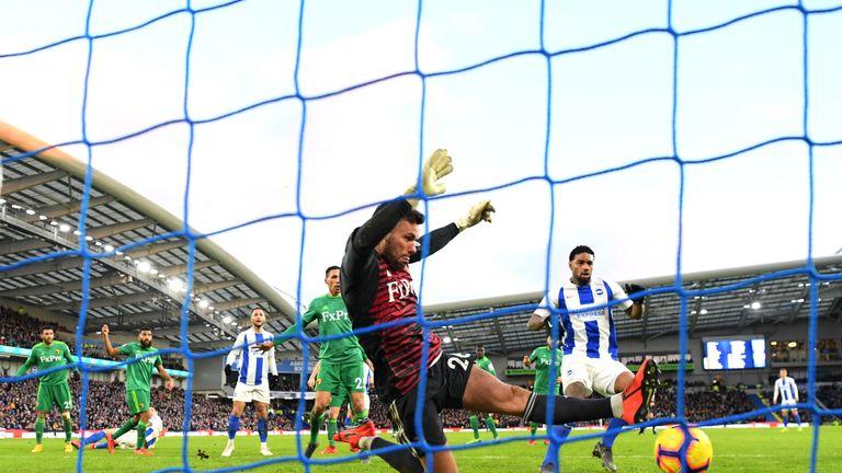 Brighton were denied by a fine performance from Watford goalkeeper Ben Foster
