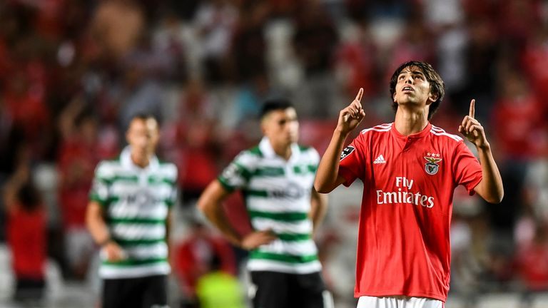 Joao Felix had played only 33 minutes of first-team football when he scored his first goal