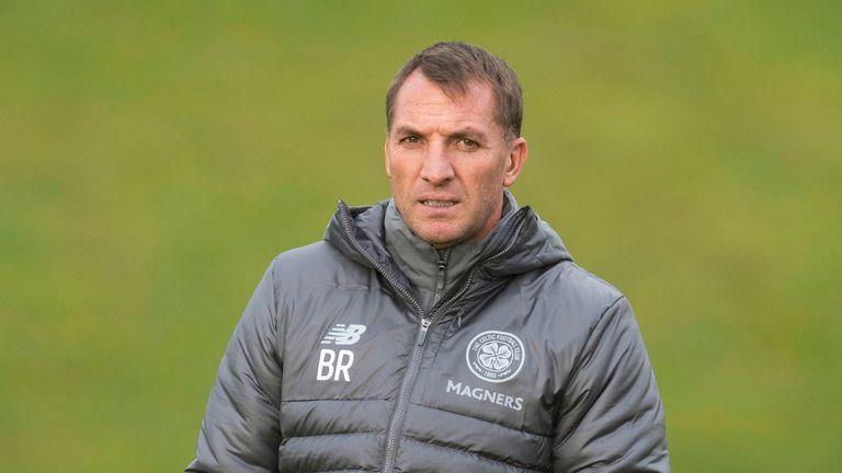 25/01/19.CELTIC TRAINING.LENNOXTOWN.Celtic manager Brendan Rodgers.