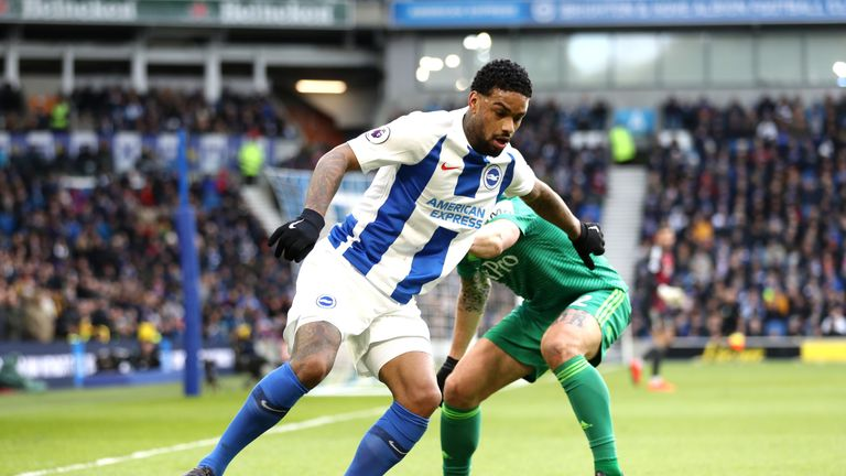 Jurgen Locadia came closest for Brighton