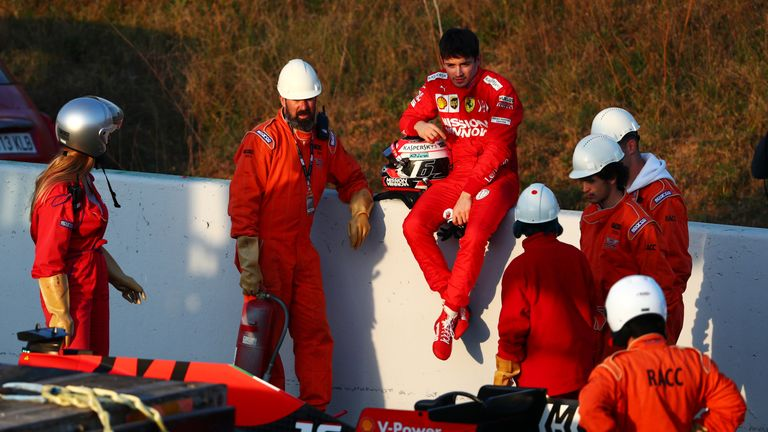 Ferrari did run into some trouble on track, but the team described Leclerc's late stoppage as a 'small' exhaust glitch
