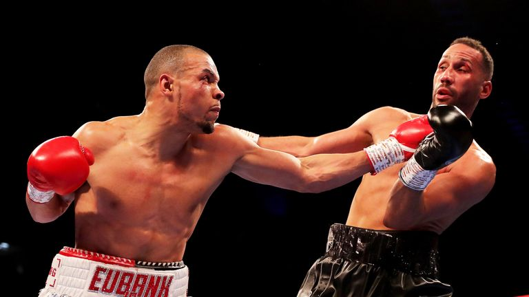 The 33-year-old struggled to cope with Eubank Jr's aggression