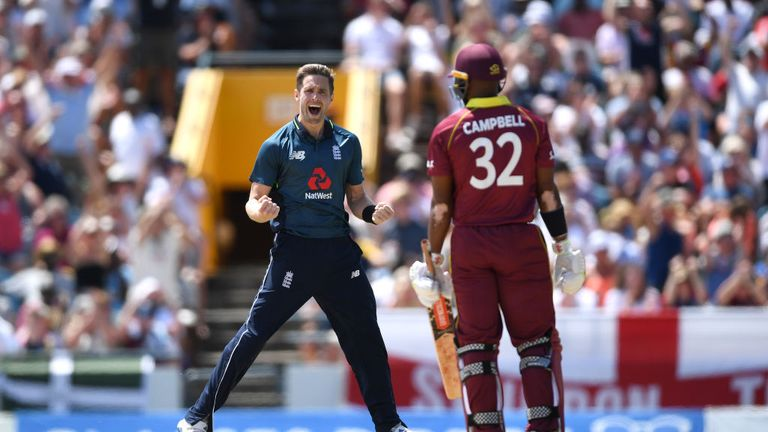 Chris Woakes took three wickets in the ODI series against West Indies including the dismissal of John Campbell