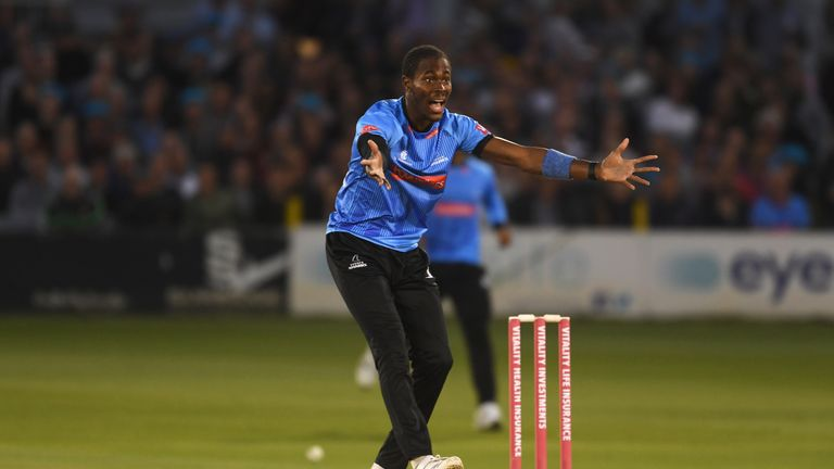 Jofra Archer will 'rise to the occasion' if he is selected by England, says Chris Jordan