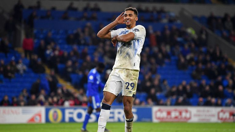 Calvert-Lewin scored his fifth goal of the season in his 100th league appearance
