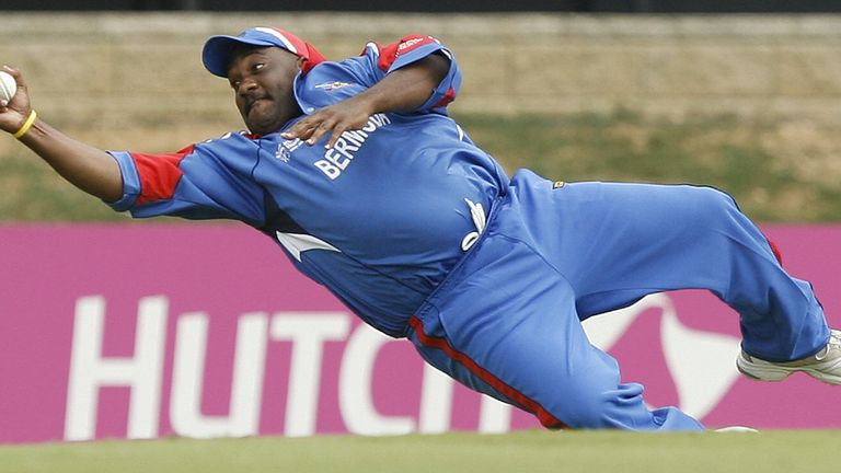 Dwayne Leverock's blinding catch couldn't save Bermuda from defeat against India