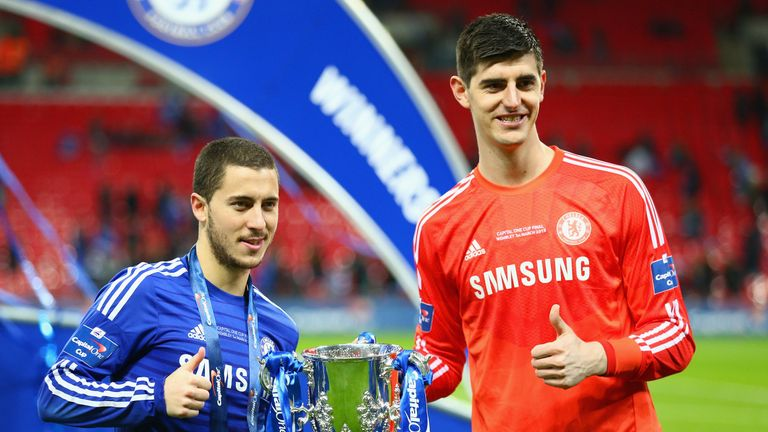 Thibaut Courtois was an unused substitute during the 2015 League Cup final