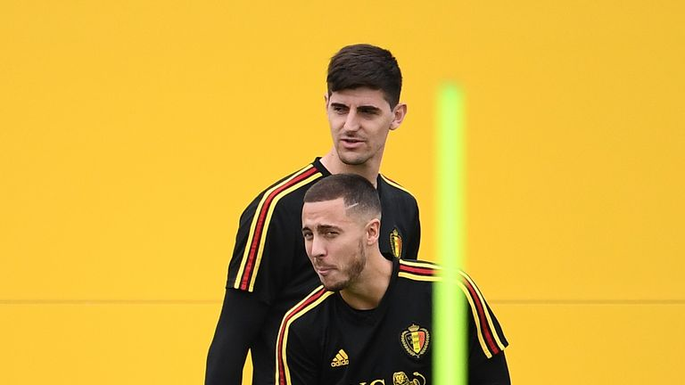 Thibaut Courtois and Eden Hazard are key players for Belgium