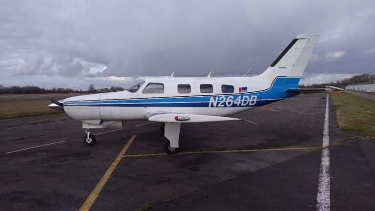 N264DB on the ground at Nantes prior to the flight (Image: AAIB)