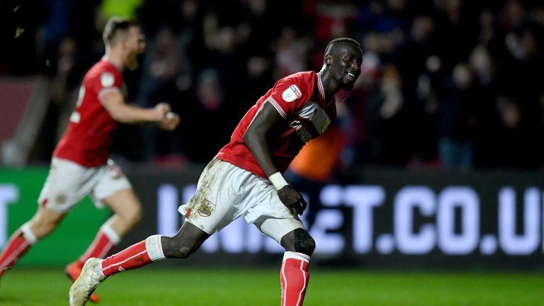 Famara Diedhiou scored a late winning penalty for Bristol City