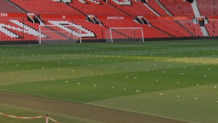 Manchester United were using garlic on the Old Trafford pitch on Friday night.