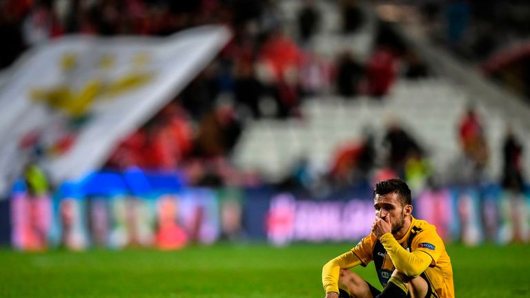 AEK Athens were knocked out of the Champions League group stages after suffering six defeats out of six games against Bayern Munich, Ajax and Benfica