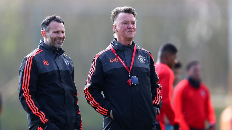 Louis van Gaal had current Wales boss Ryan Giggs as his assistant at United
