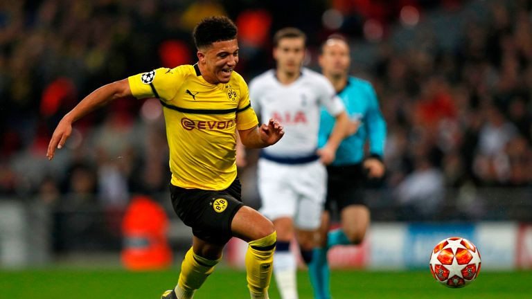Jadon Sancho left Manchester City for Borussia Dortmund