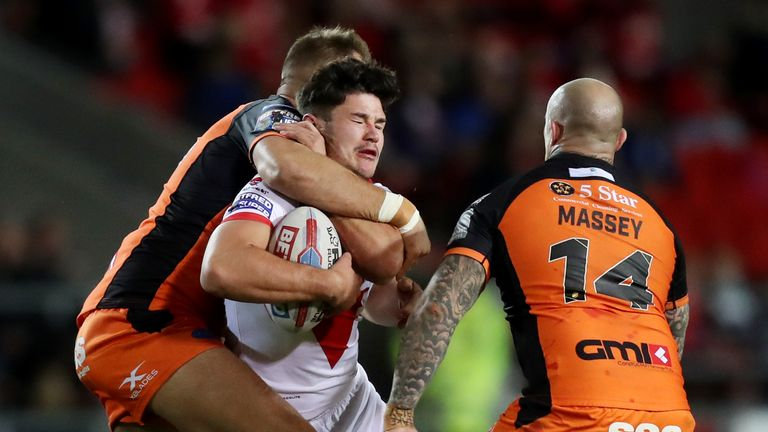James Bentley has been called into the St Helens squad to face Wakefield