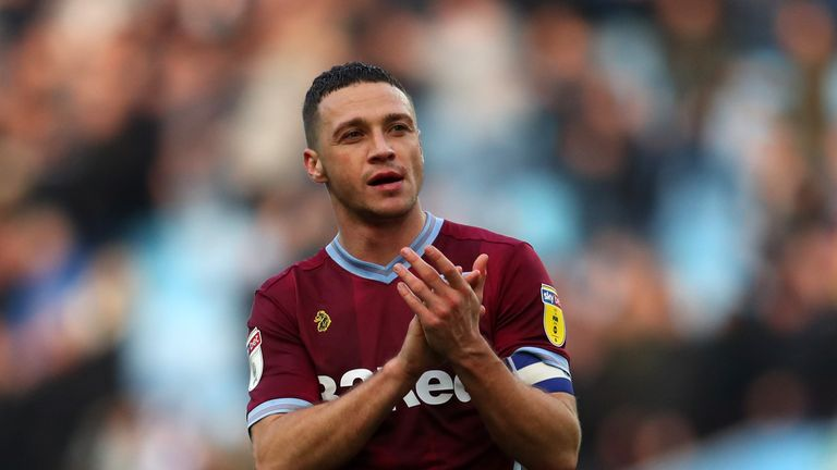 Aston Villa's James Chester has been struggling with a knee injury