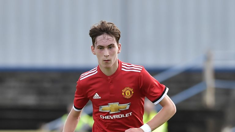 James Garner has played for United's U18s and reserves this season