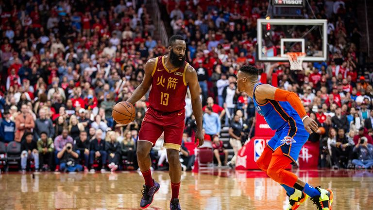 James Harden scored at least 30 points for the 29th consecutive game