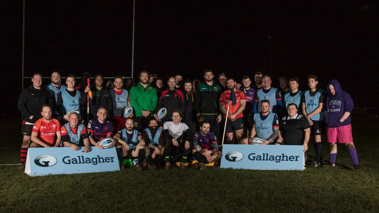 Northampton Outlaws won the opportunity to train with the Saints stars in a Gallagher Premiership Rugby competition