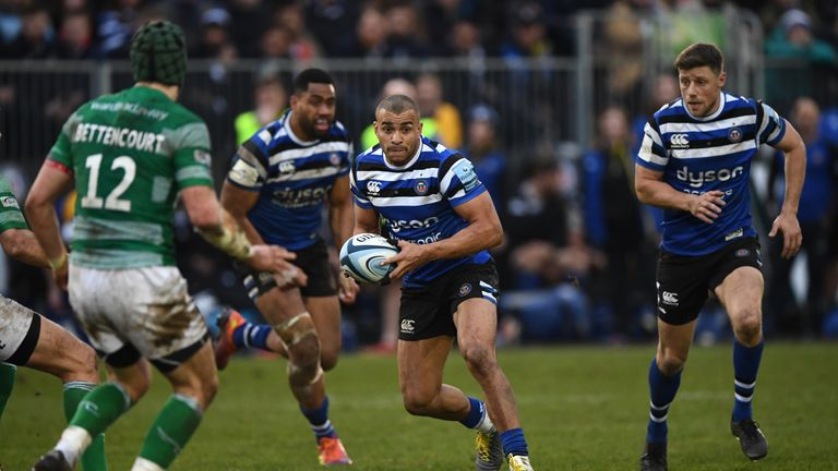Jonathan Joseph  looks to attack for Bath