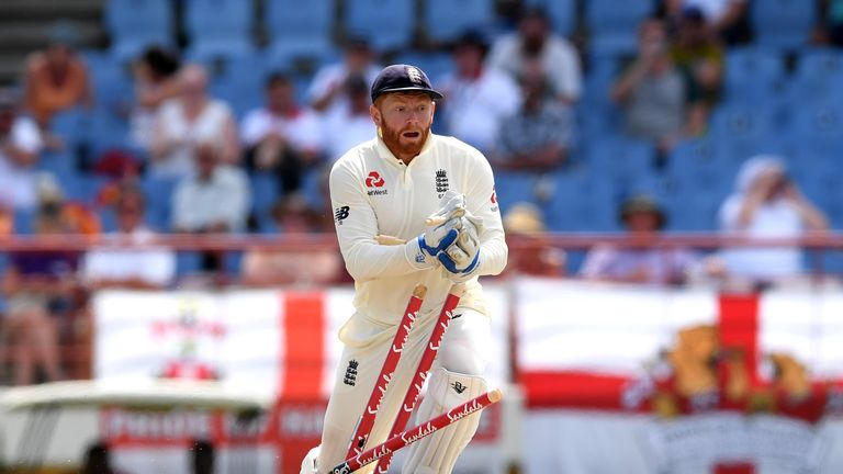 Jonny Bairstow completes the run-out of Shimron Hetmyer