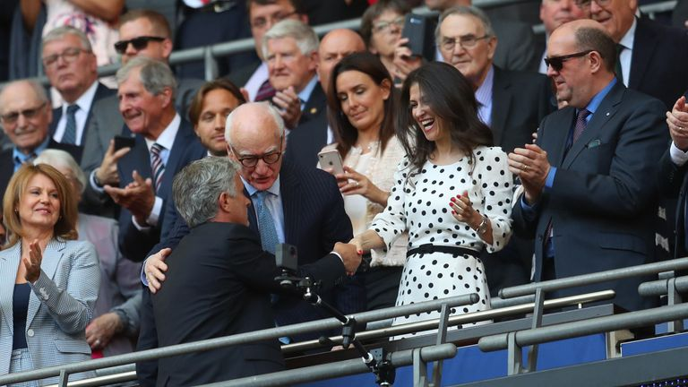 Granovskaia and Mourinho - then Manchester United manager - exchanged warm regards after last season's FA Cup final
