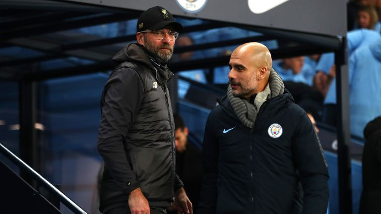 Jurgen Klopp and Pep Guardiola are battling it out for the Premier League title