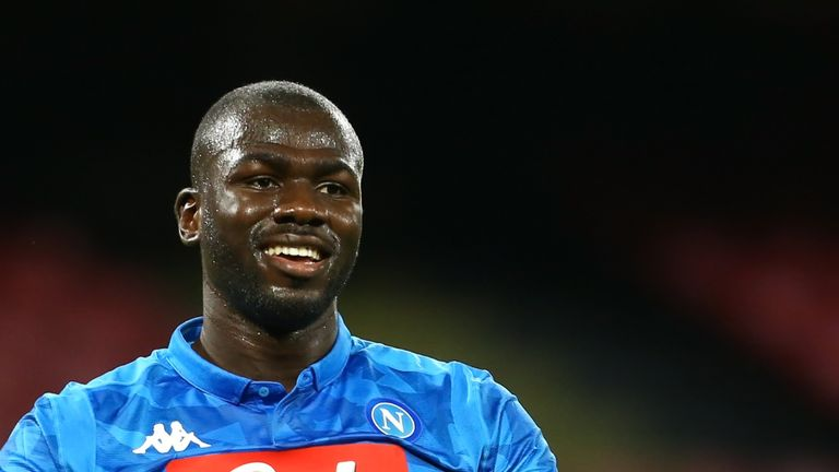 Manchester United were linked with a move for Napoli defender Kalidou Koulibaly