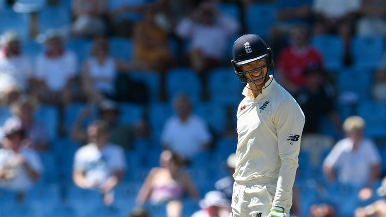 Keaton Jennings was dismissed in bizarre circumstances in the second innings