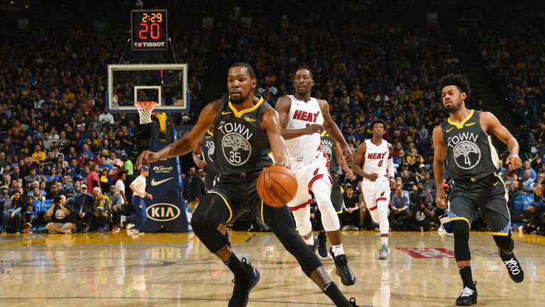 Kevin Durant top-scored with 39 points for Golden State