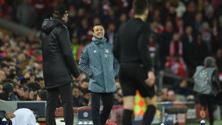 Jurgen Klopp and Niko Kovac had a heated exchange at full-time