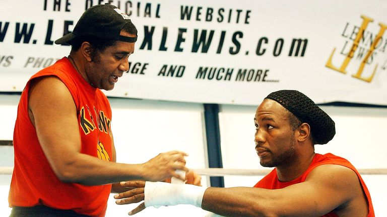 Lennox Lewis linked up with trainer Emanuel Steward in Pocono mountains