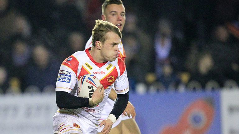 Lewis Tierney in action for Catalans