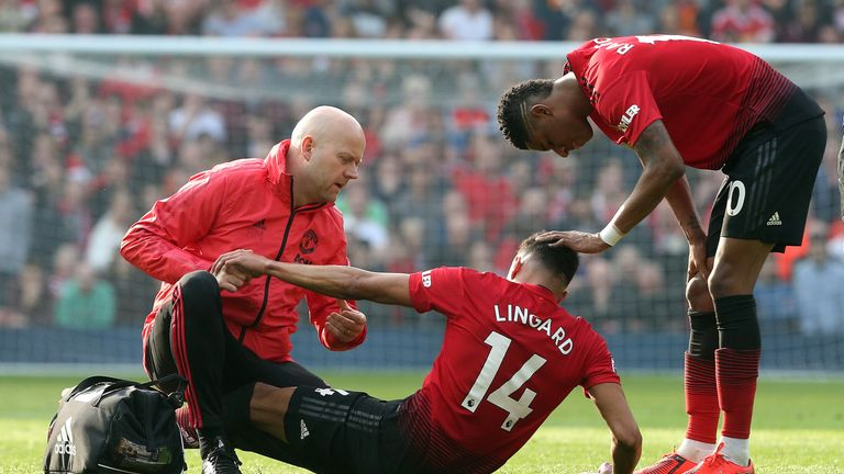 Jesse Lingard was also injured against Liverpool