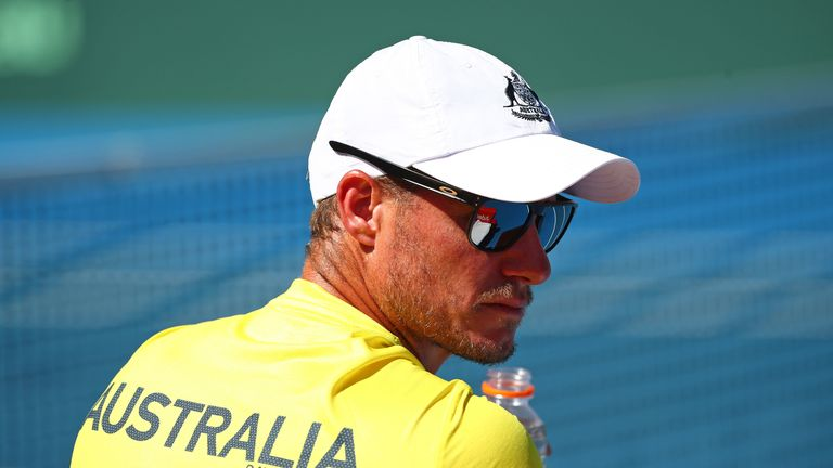 Australia captain Lleyton Hewitt steered his team to the Davis Cup