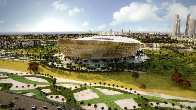Artist's impression of Lusail Stadium which will host Qatar 2022 World Cup final