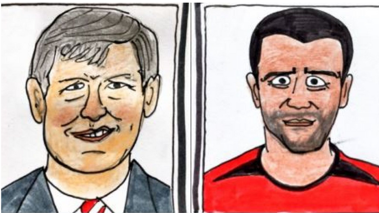 Couple Told To Stop Selling Wonky Drawings Of Man Utd Players Football News Sky Sports