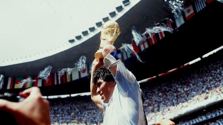 FUSSBALL : WM 1986  , 1986..Diego MARADONA / ARG..Foto:BONGARTS .. *** Local Caption *** Diego Maradona